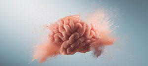 Foto de um cérebro explodindo