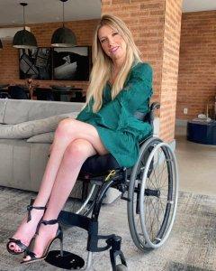 Empreendedora e cadeirante Andrea Schwarz.