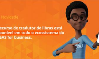 imagem com personagem negra chamada Maya e com texto chamando a pessoa leitora para conhecer a novidade sobre tradutor em libras no VAGAS for business